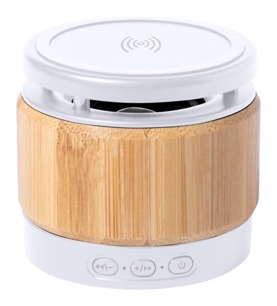 Bluetooth Hangszóró És Töltő Zakrox - Natúr / Fehér
