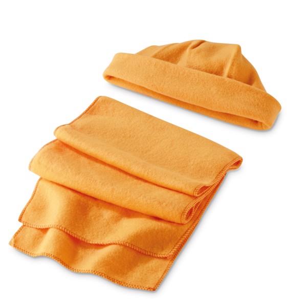 Sada čepice a šála - Oranžová