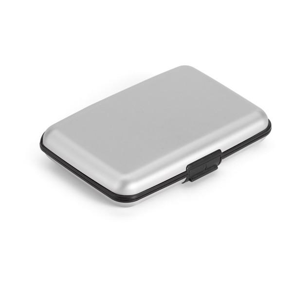 BRONI. Aluminium card holder - Satin Silver