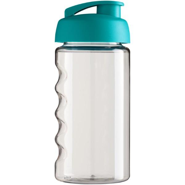 Sportovní láhev s vyklápěcím víčkem H2O Bop® 500 ml - Průhledná / Aqua blue