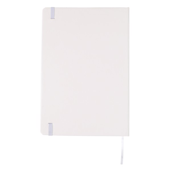 Basic keményfedelű A5-ös jegyzetfüzet érintőtollal - Fehér
