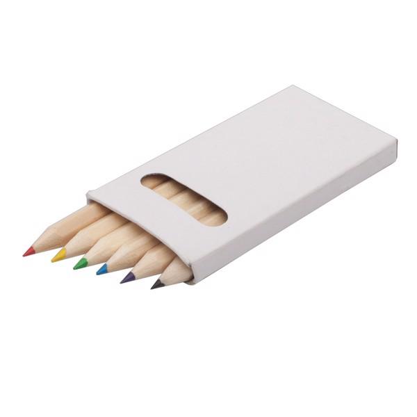 Zestaw kredek 9 cm - Biały