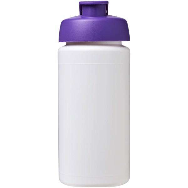 Sportovní láhev s vyklápěcím víčkem Baseline® Plus grip 500 ml - Bílá / Purpurová