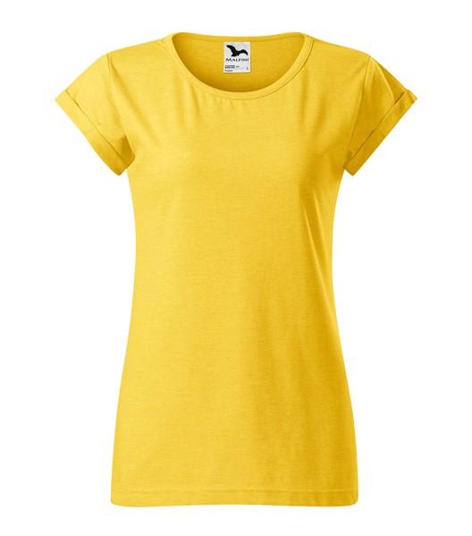 Tričko dámské Malfini Fusion - Žlutý Melír / XL
