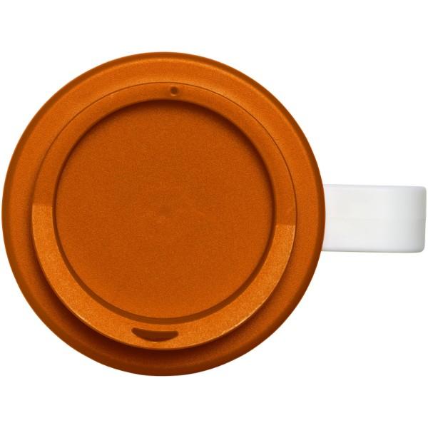 Termo hrnek Brite-Americano® grande 350 ml - Bílá / 0ranžová