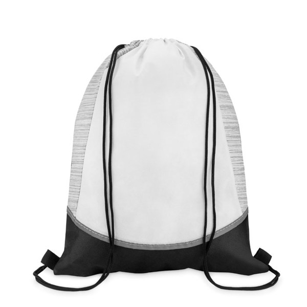 Drawstring bag in non woven PP Woffy - White