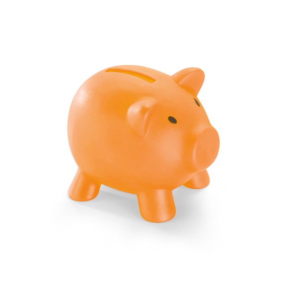 PIGGY. Coin bank - Orange