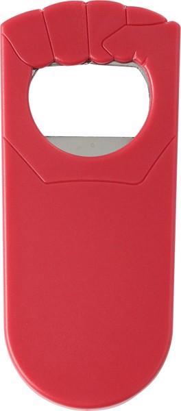 HIPS bottle opener - Red