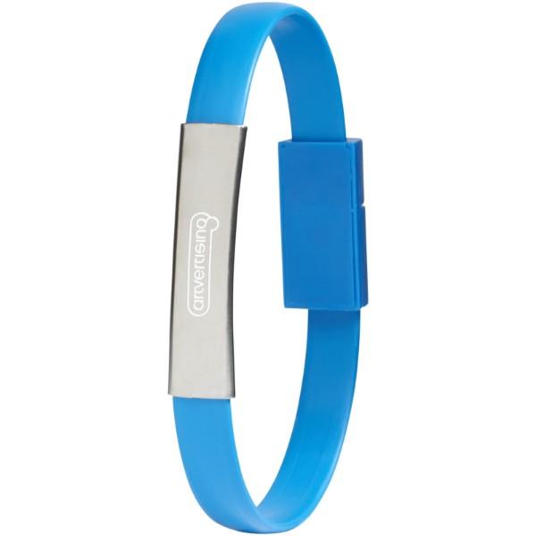 Bracelet 2-in-1 Ladekabel - Hellblau