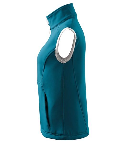 Softshellová vesta dámská Malfini Vision - Tmavý Tyrkys / XS
