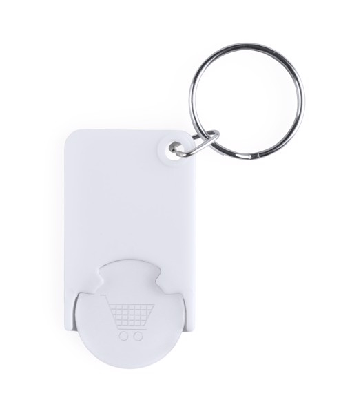Trolley Coin Keyring Zabax - White