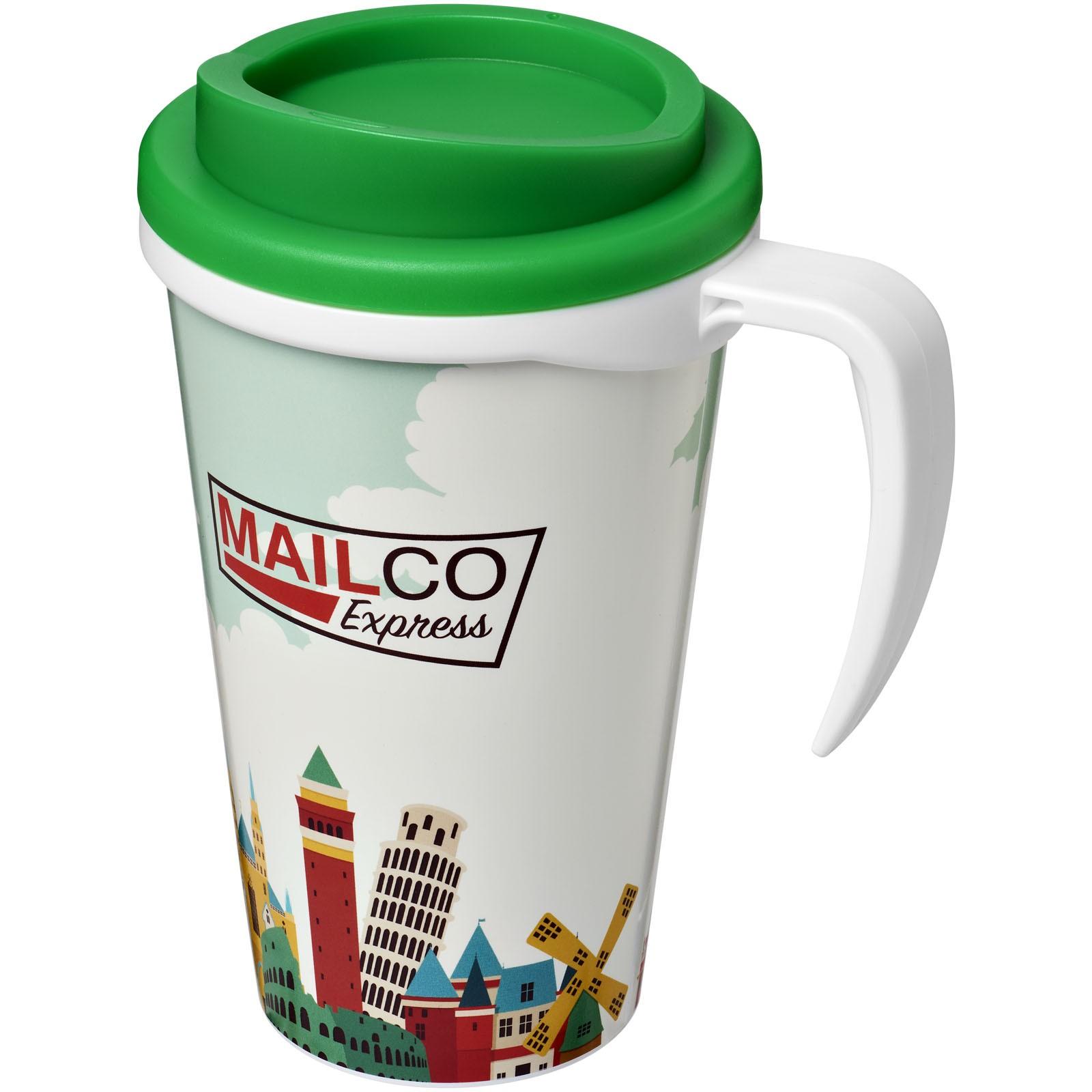 Brite-Americano® Vaso térmico grande de 350 ml - Blanco / Verde