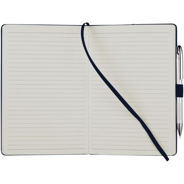 Kancelářský zápisník A5 s měkkou zadní obálkou Flex - Navy