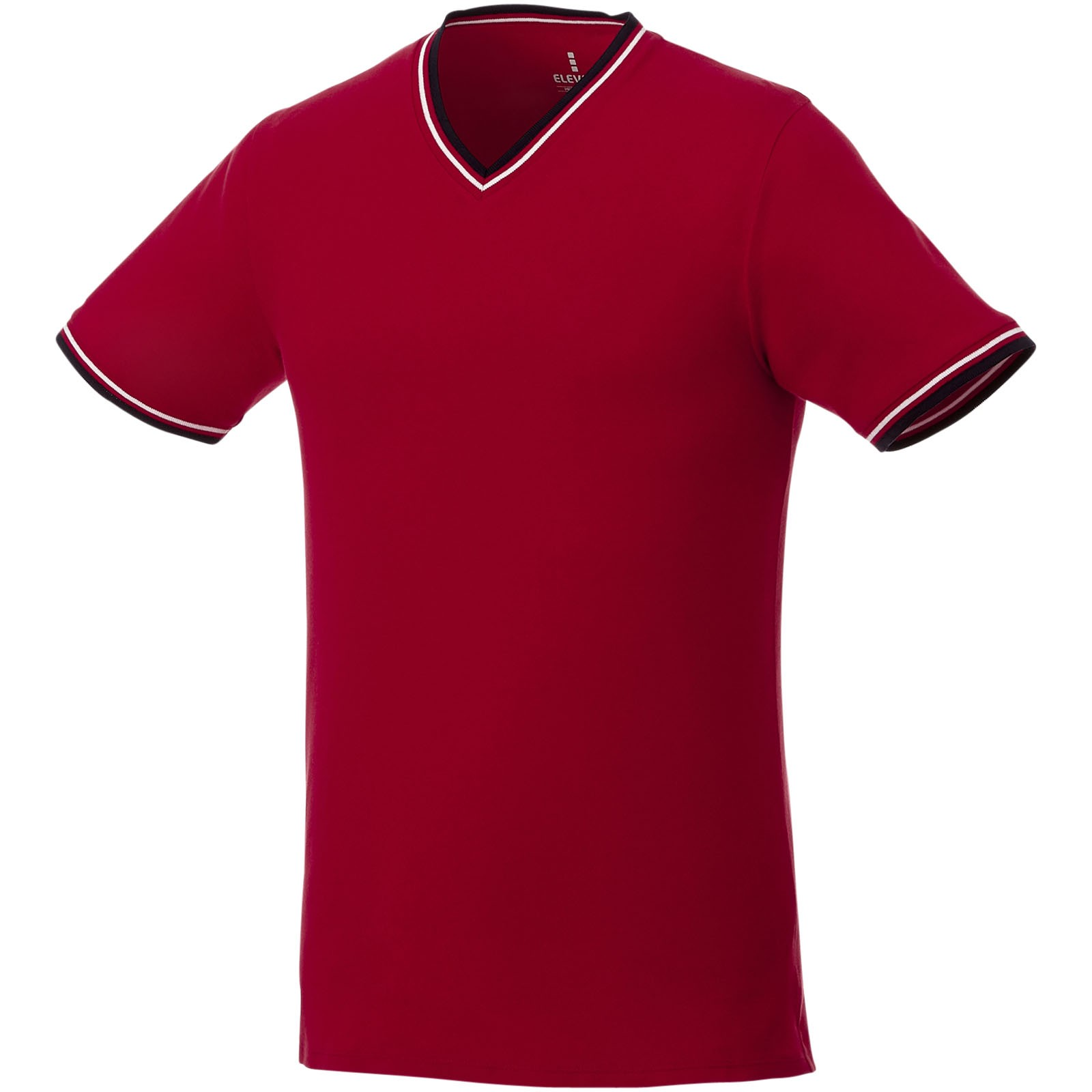 Elbert short sleeve men's pique t-shirt - Red / Navy / White / S