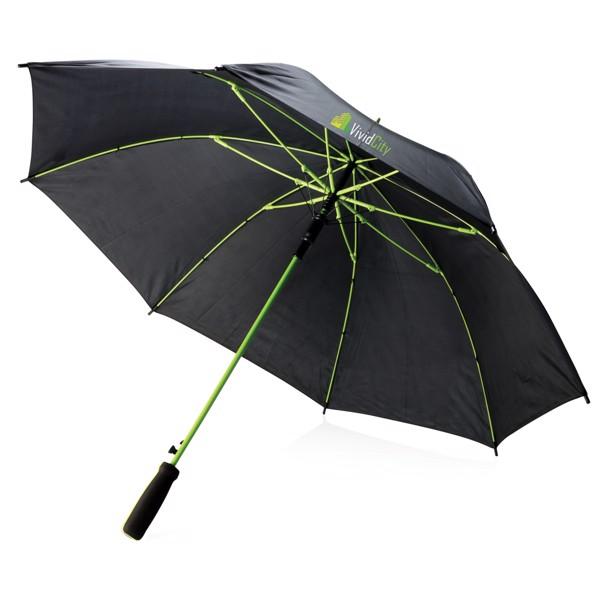 """Barevný 23"""" deštník ze sklolaminátu - Zelená / Černá"""