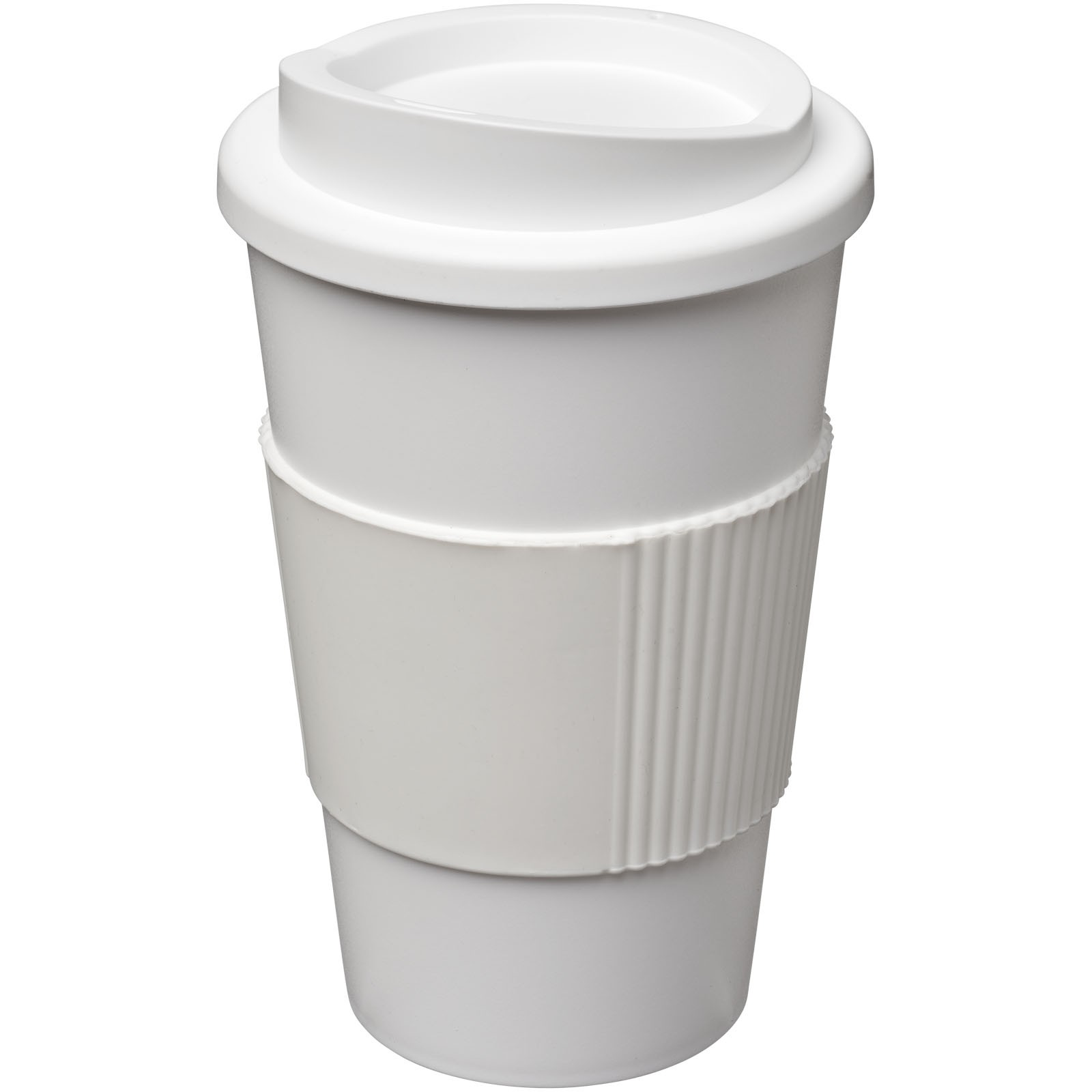 Americano® 350 ml insulated tumbler with grip - White