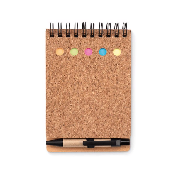 Cork notebook and sticky notes Multicork