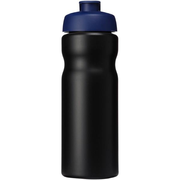 Baseline® Plus 650 ml flip lid sport bottle - Solid Black / Blue