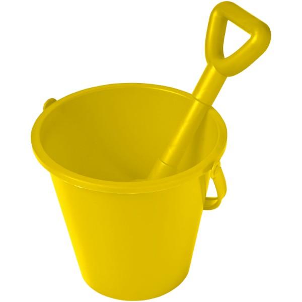 Finn beach bucket and spade - Yellow