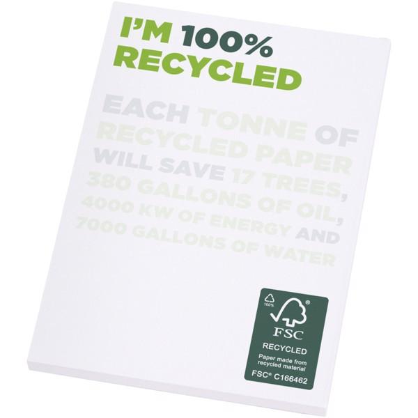 Poznámkový blok A7 z recyklovaného papíru Desk-Mate® - Bílá / 50 pages