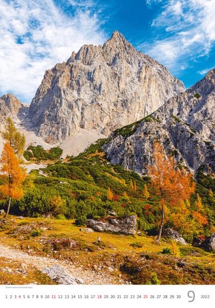 Měsíční kalendář Alps 2022