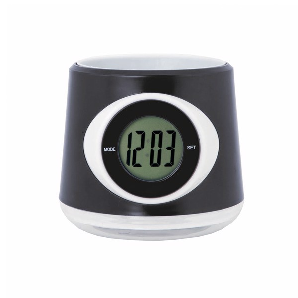 Pot Desk Clock Zelmo - Black