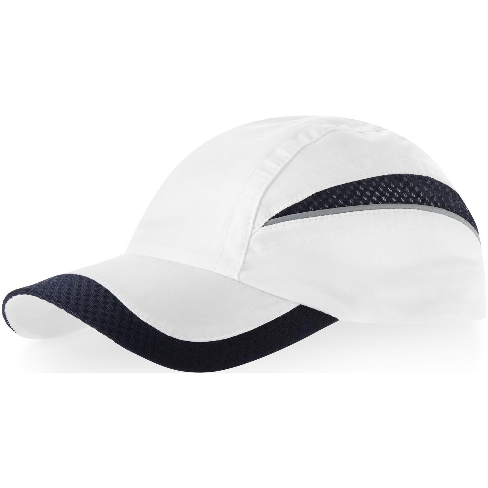 Síťovaná kšiltovka Qualifier se 6 panely - Bílá / Navy