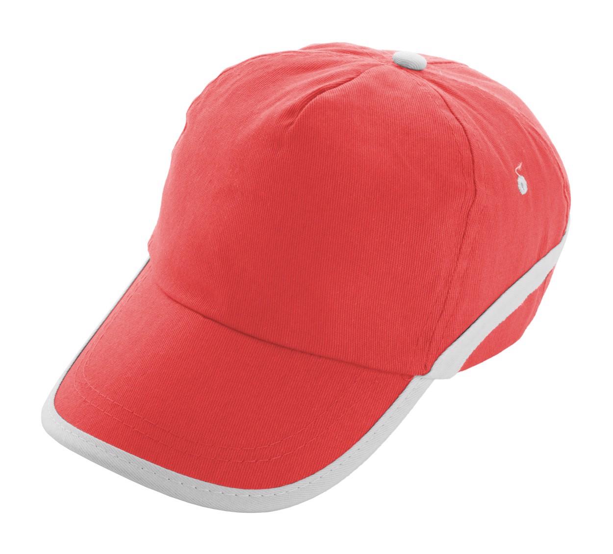 Baseballová Čepice Line - Červená