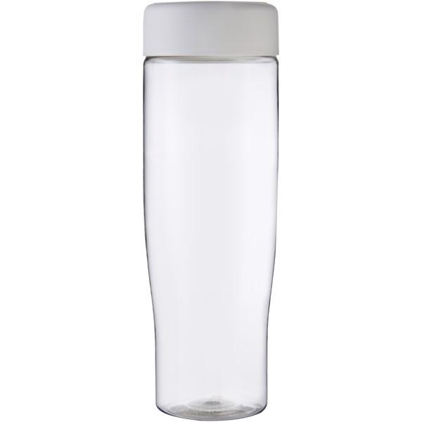 H2O Tempo 700 ml screw cap water bottle - Transparent / White