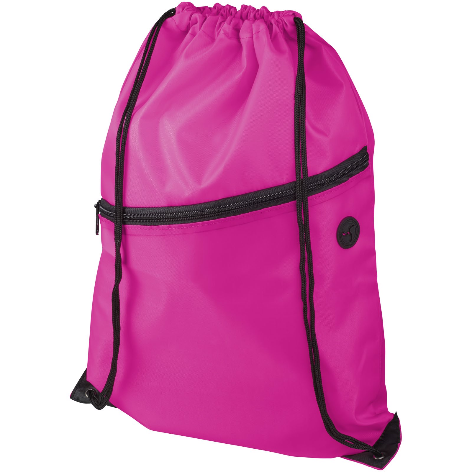 Oriole šňůrkový batoh se zipem - Magenta