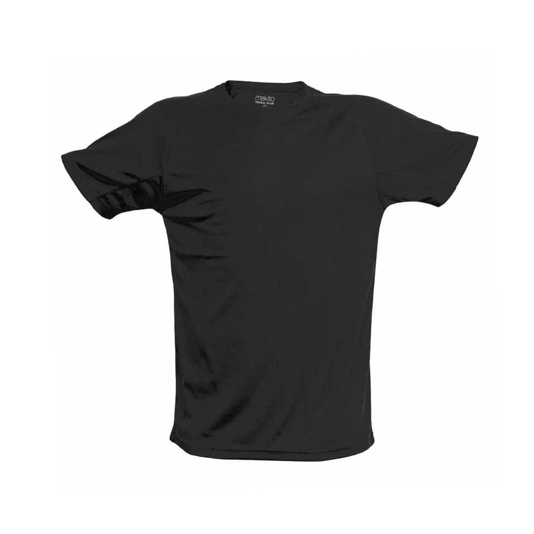 Camiseta Adulto Tecnic Plus - Negro / XXL