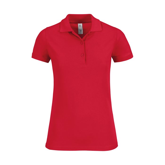 Ladies Polo Shirt 180 g/m2 Safran Timeless Women - Red / XXL