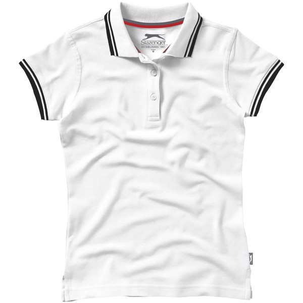 Deuce short sleeve women's polo with tipping - White / M