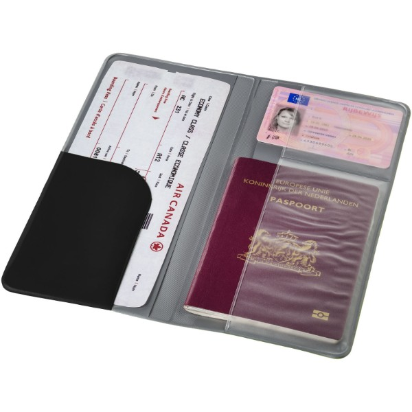 Voyageur travel wallet - Solid black
