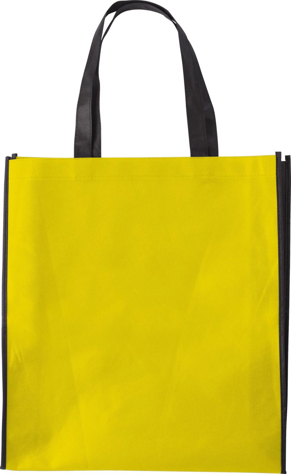 Nonwoven (80 gr/m²) shopping bag - Yellow