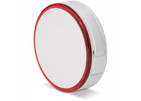 Light hub with 4 USB ports - White / Red