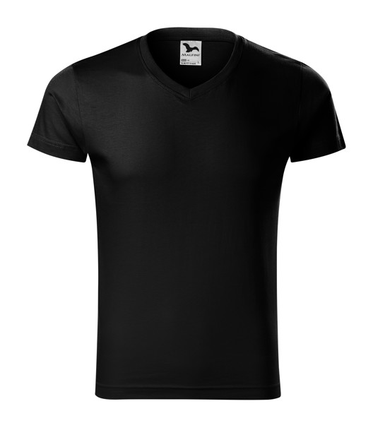 Tričko pánské Malfini Slim Fit V-neck - Černá / M