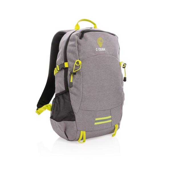 Outdoorový RFID batoh na notebook - Šedá / Žlutá