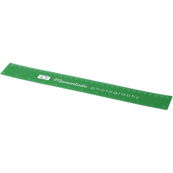 Rothko 30 cm plastic ruler - Green