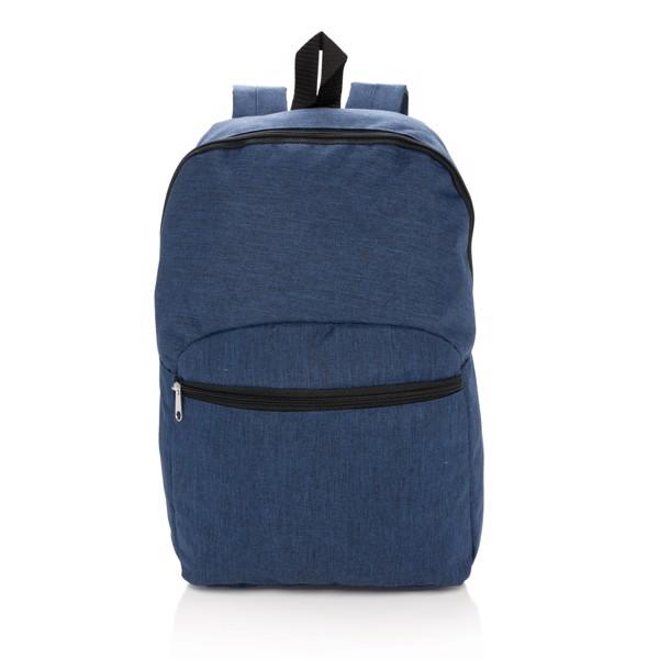 Basic kéttónusú hátizsák - Kék