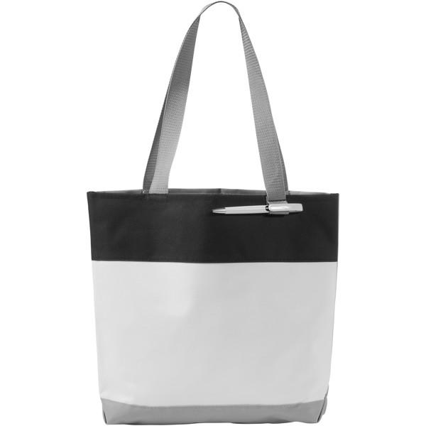 Bloomington colour-block convention tote bag - White / Solid Black