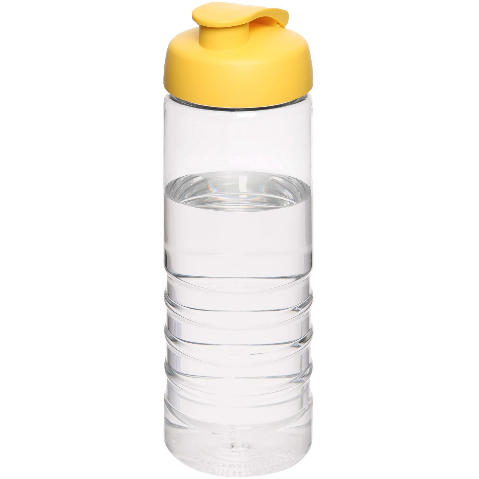 H2O Treble 750 ml sportovní lahev s vyklápěcím víčkem - Průhledná / Žlutá