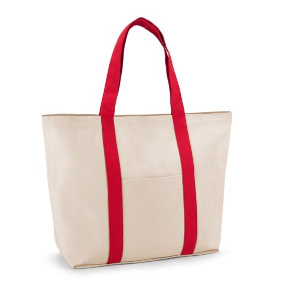 VILLE. Bolsa de lona 100% algodón - Rojo