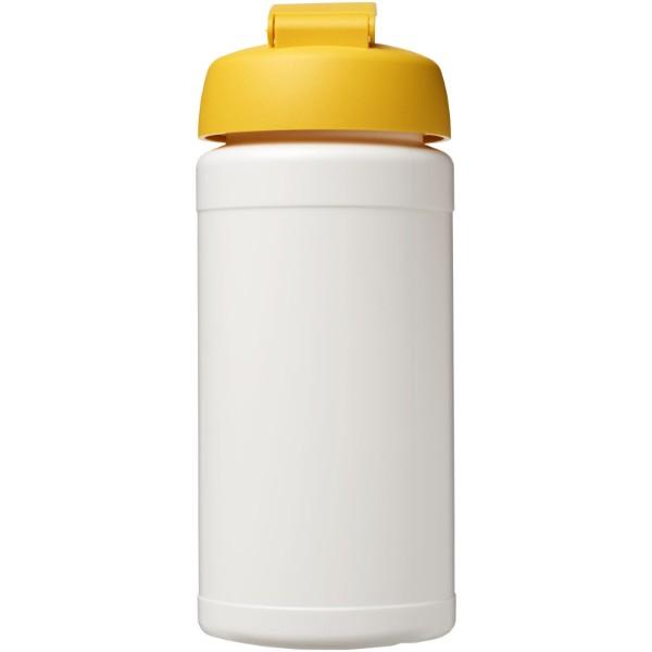 Baseline® Plus 500 ml flip lid sport bottle - White / Yellow