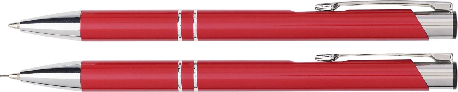 Aluminium writing set - Red