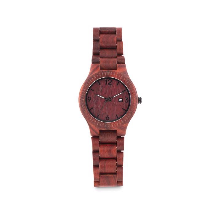 Wooden Watch in box San Gallen - Brown
