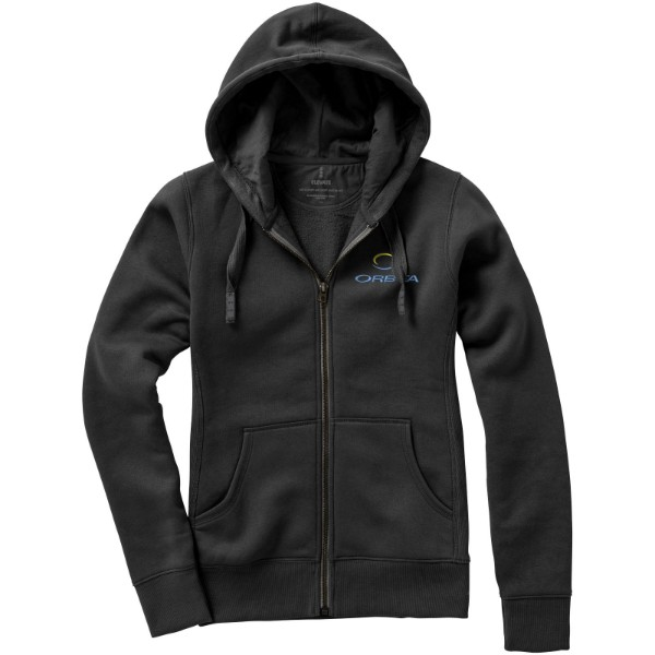 Arora hooded full zip ladies sweater - Anthracite / XL