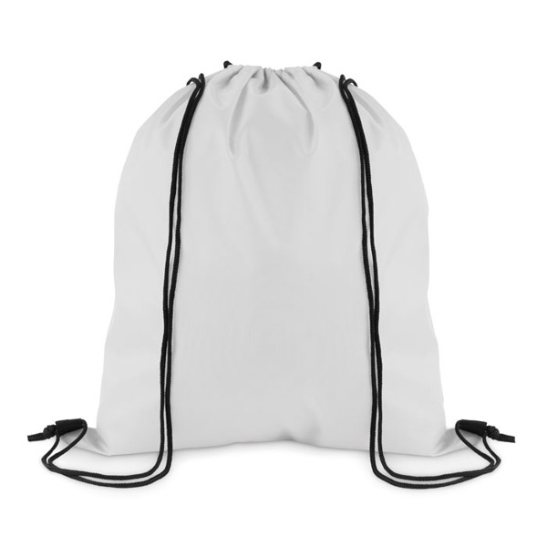 Drawstring in 210D polyester Simple Shoop - White