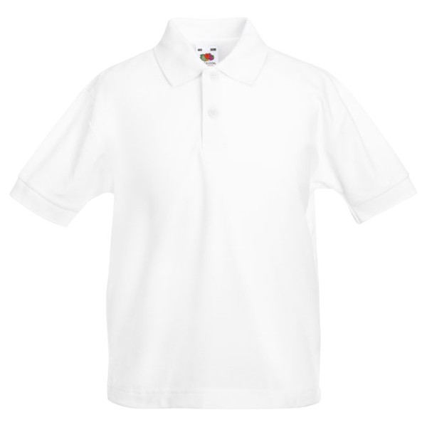 Kids Polo Shirt 170/180 g/m2 65/35 Kids Polo 63-417-0 - White / S