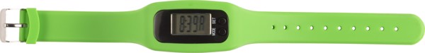 Schrittzähler 'Step' mit Silikon Armband - Lime